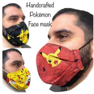 POKEMON Facemask Handmade Lined NEW Comfort One Sz